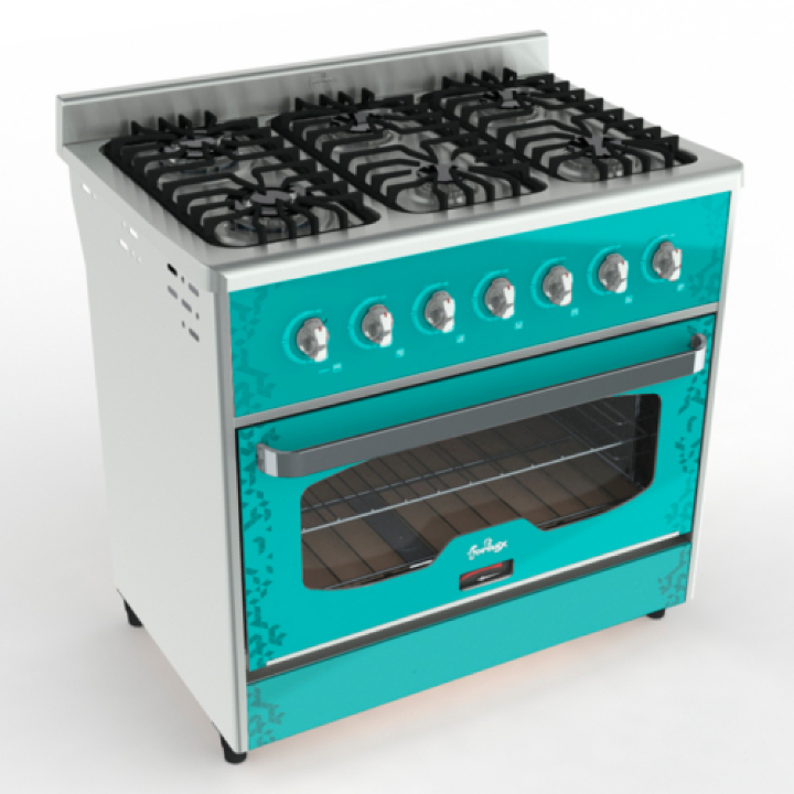 Cocina Annata 90 cm Verde