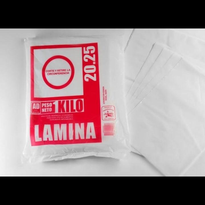 LAMINAS 20X25 X1KG. (BULTO POR 10KG.)