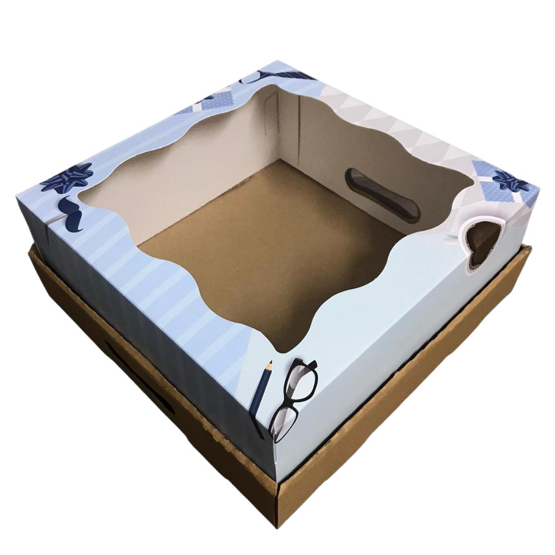 Bandeja Caja Desayuno 30x30x12 Azul