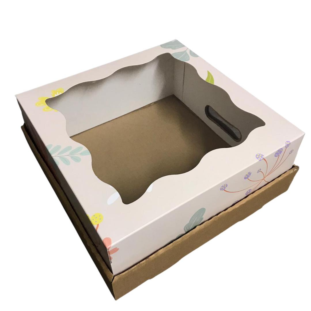 Bandeja Caja Desayuno 30x30x12 Flores