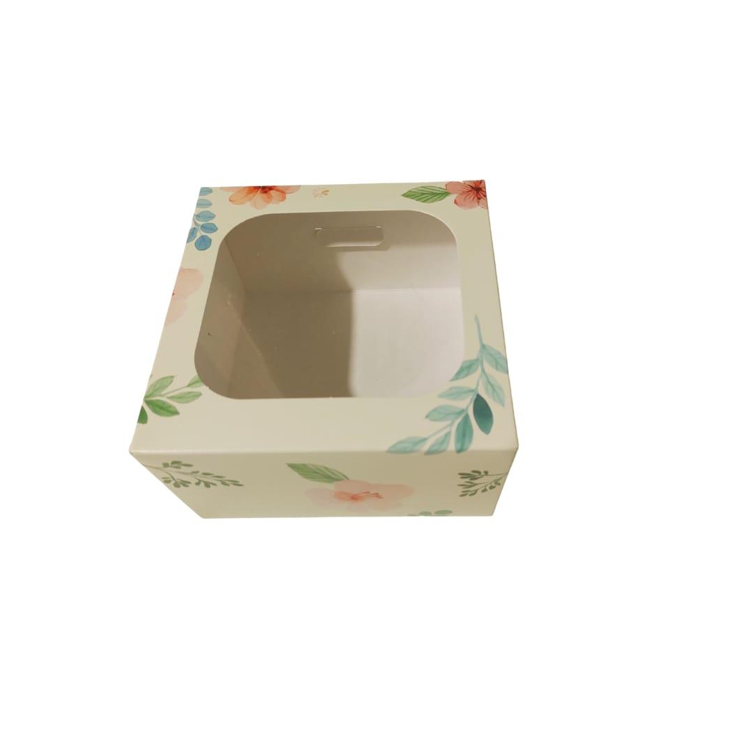 Estuche Mini Torta 17x17x10 cm con Visor Diseños
