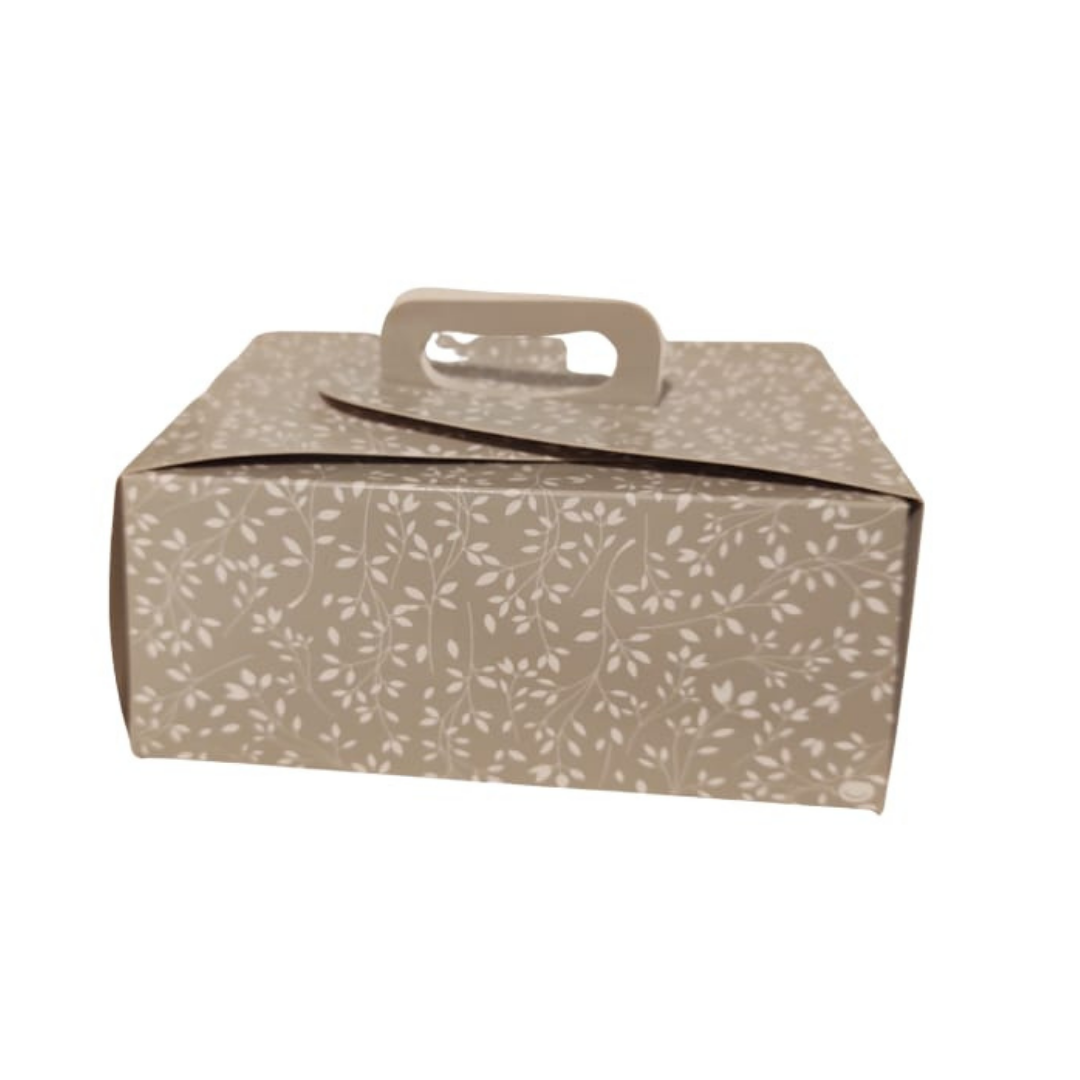 Caja Cupcake Diseño Hojas