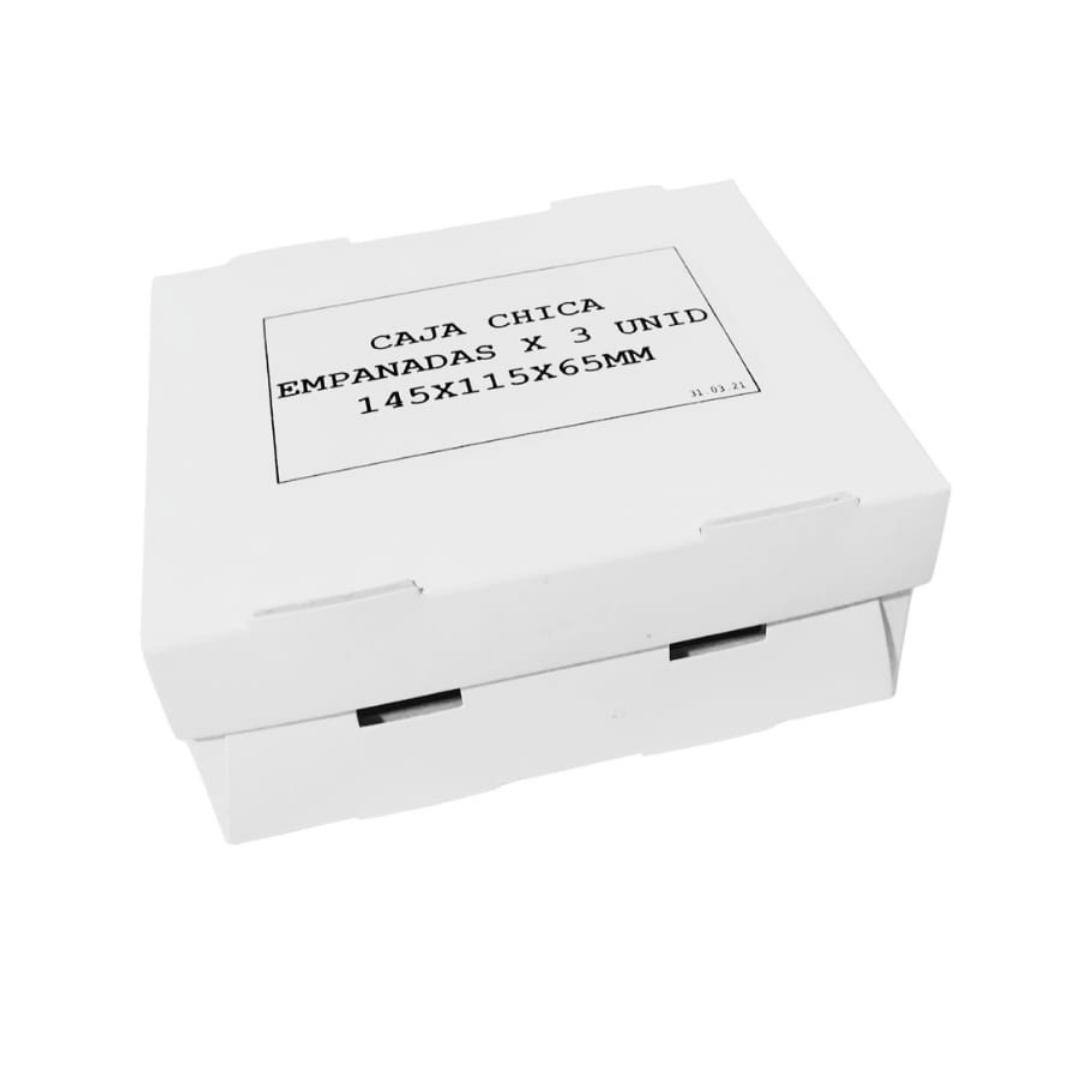 Caja 3 empanadas blanca
