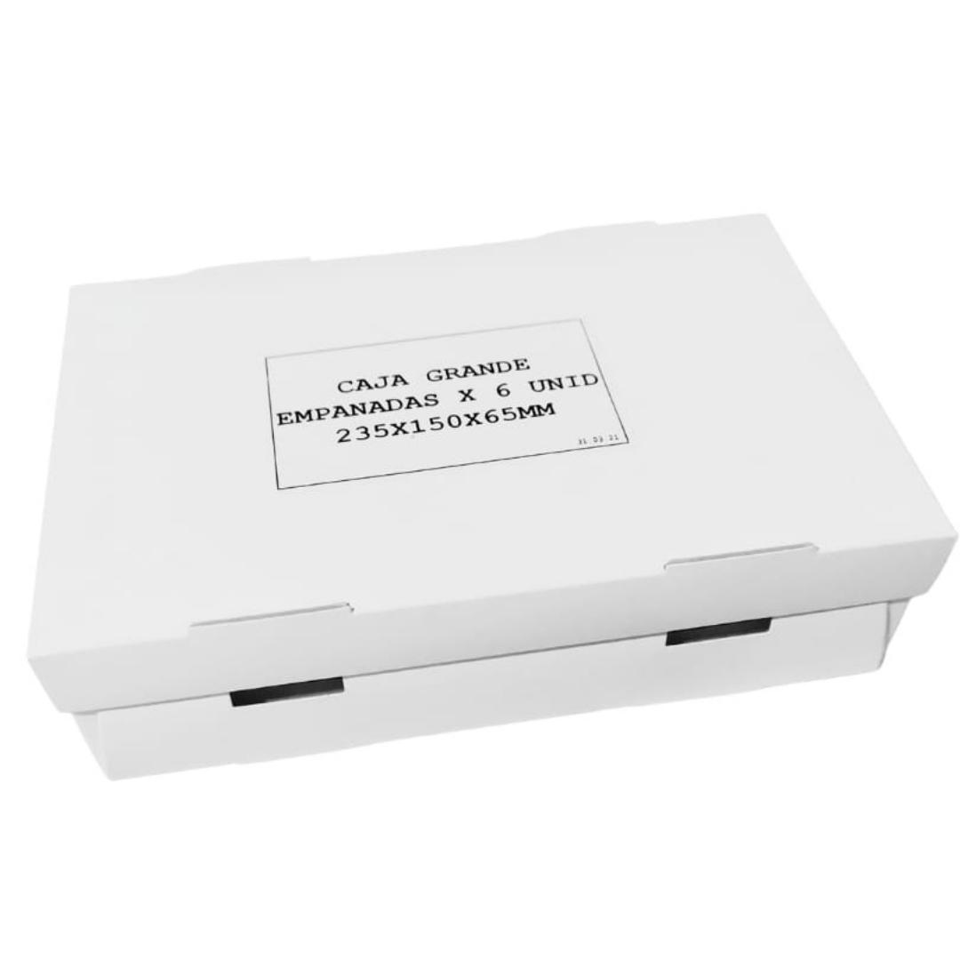Caja 6 Empanadas Blanca