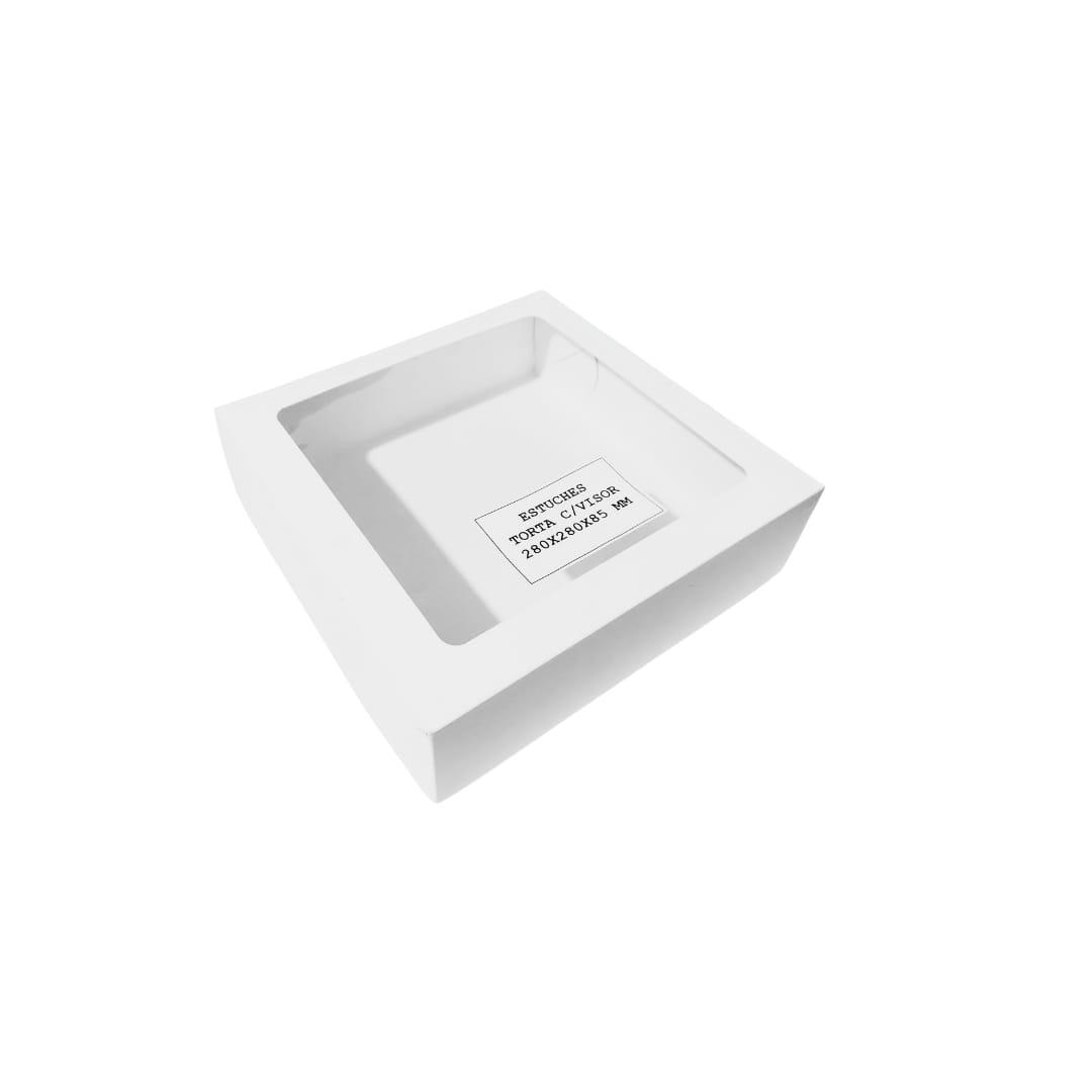 Caja Torta con visor 28x28x8,5