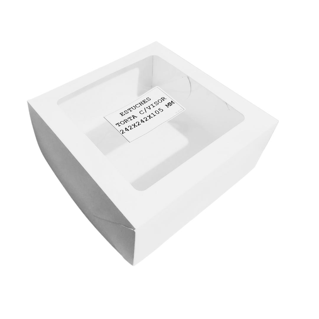 Caja Estuche para Desayuno con Visor 24,2x24,2x10,5