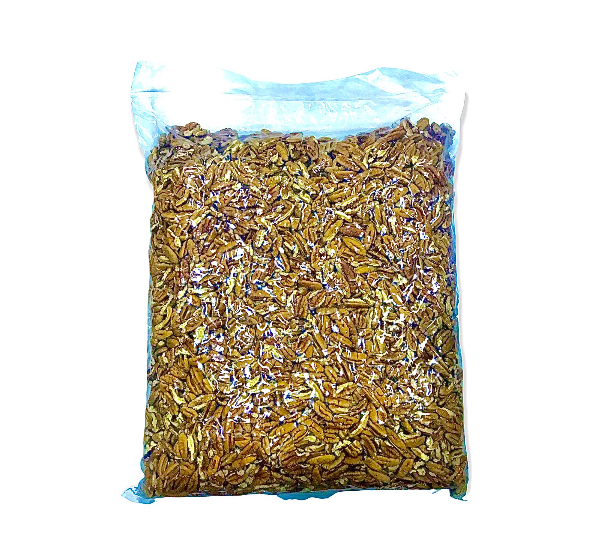 Nuez Pecan pelada partida (cuartos) caja  x 10 kilos